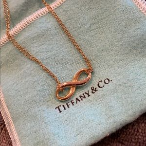 Tiffany & Co Rose Gold Infinity Necklace